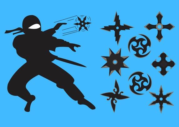 572x407 Ninja Throwing Star Vector Free Vector Download In .ai, .eps
