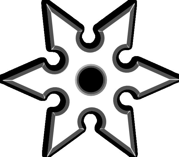 600x526 Ninja Shirken Star Clip Art