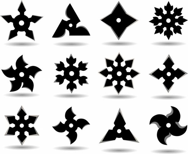600x492 Ninja Stars Free Vector In Adobe Illustrator Ai ( .ai