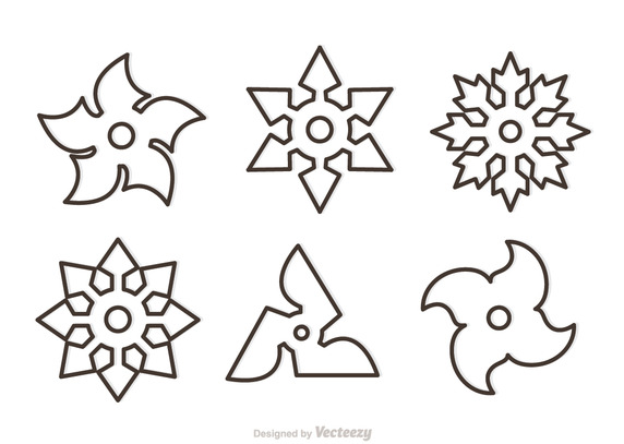 572x407 Outline Ninja Star Vector Free Vector Download In .ai, .eps
