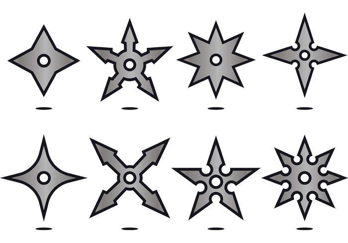 700x490 Silver Ninja Throwing Star Icon Vectors 147970