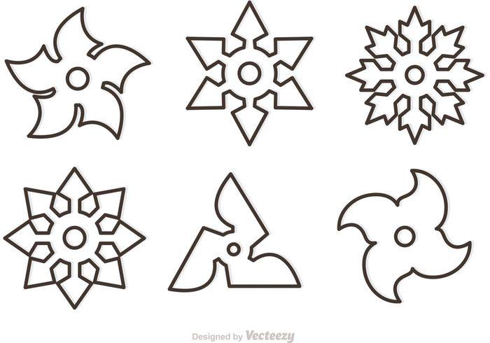700x490 Star Outline Images Outline Ninja Star Vectors Download Free