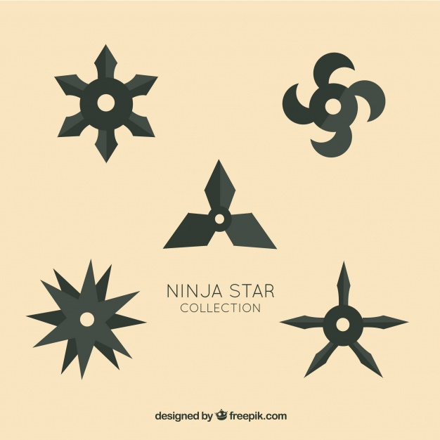 626x626 Trditional Ninja Star Collection With Flat Design Vector Free