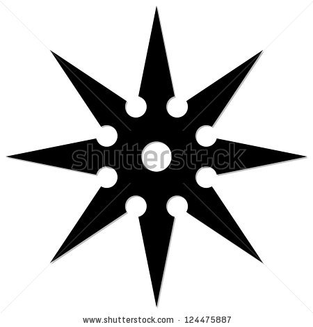 450x470 Chinese Throwing Stars Clipart