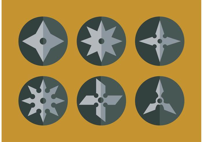 700x490 Flat Ninja Throwing Star Vectors