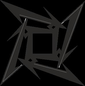 296x300 Metallica Ninja Star Logo Vector (.cdr) Free Download
