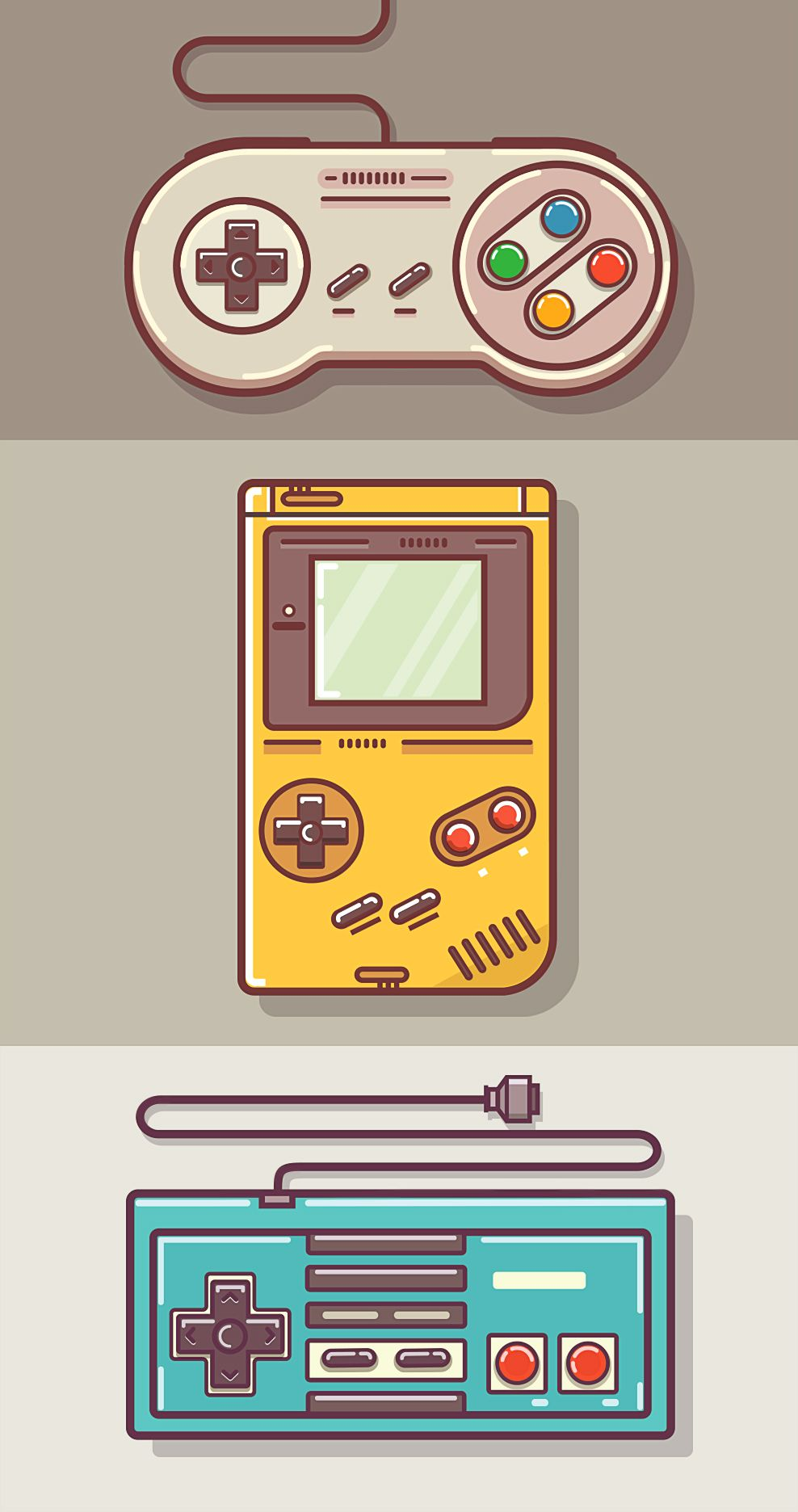 988x1872 Game Controllers By Graphicsoulz Vector And Photoshop
