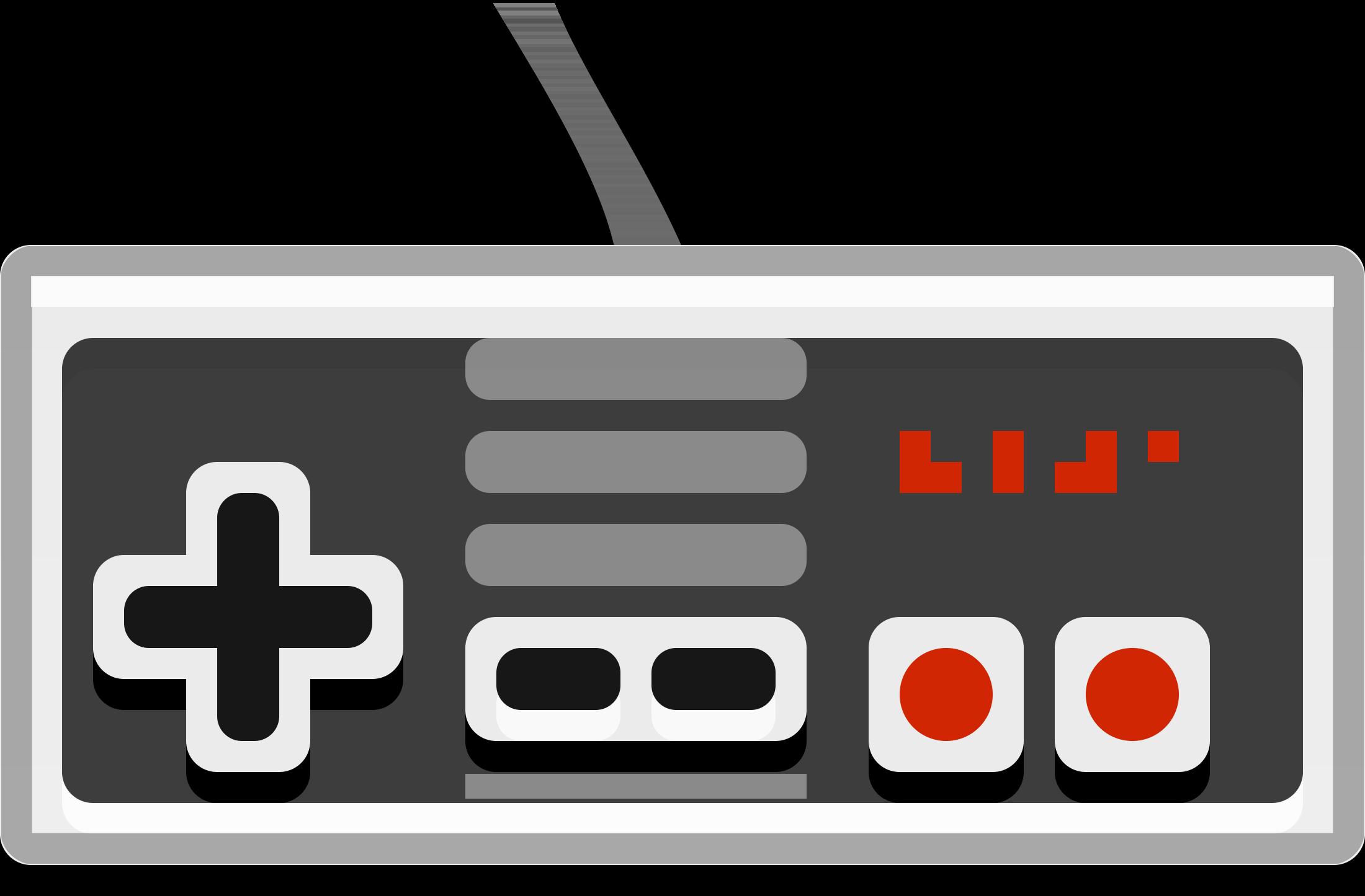2200x1445 Nintendo Controller Vector Clipart Image