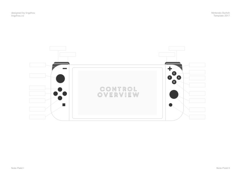 800x600 Nintendo Switch Controller Vector Template