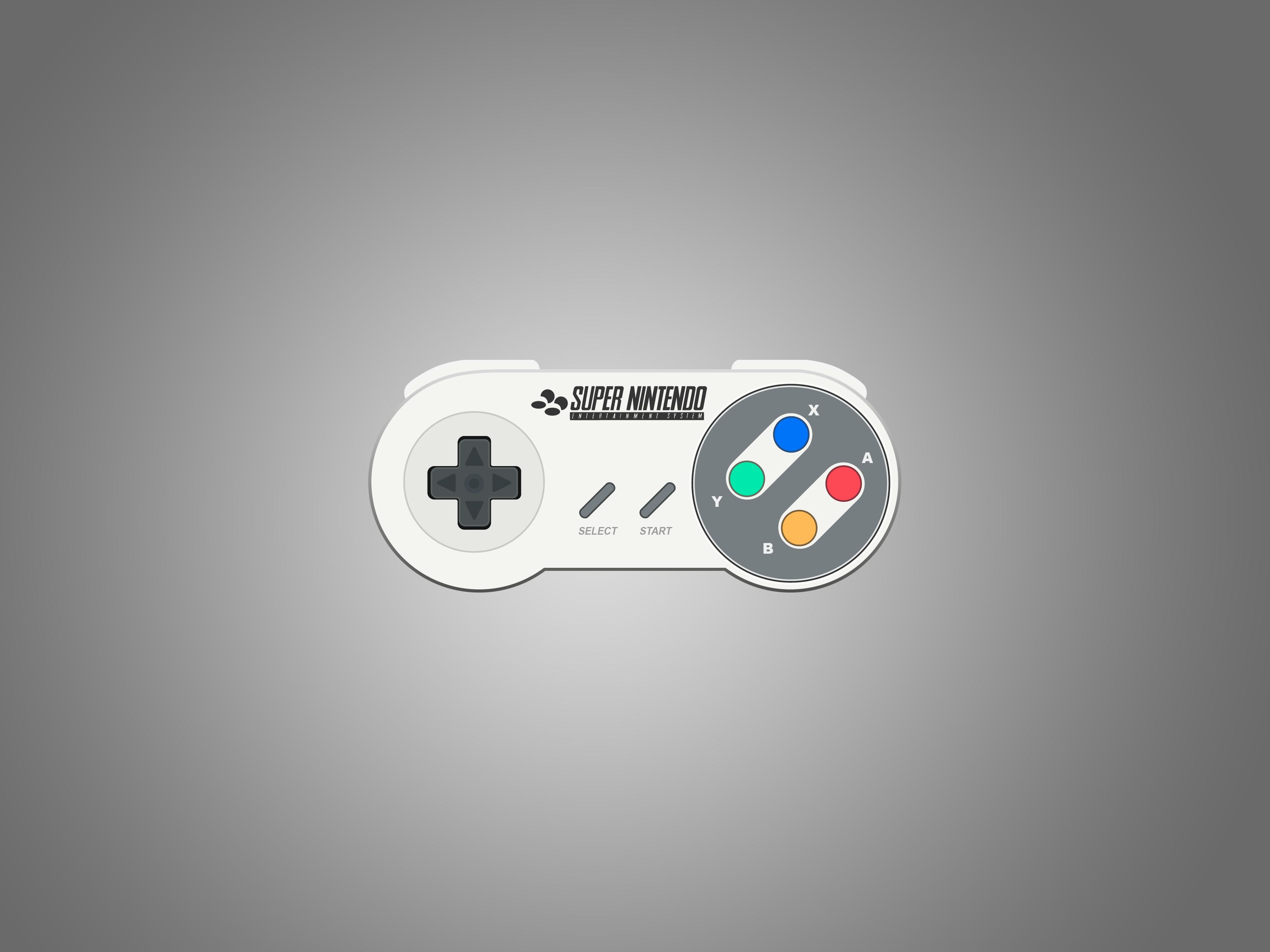 3556x2667 Snes Gamepad Vector Timberm4n