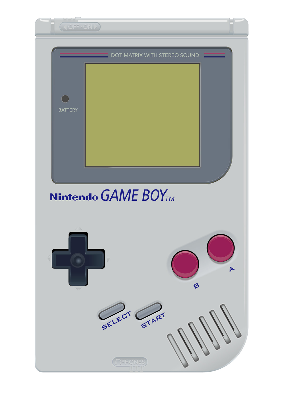 1200x1697 Nintendo Game Boy Vector Illustration On Behance