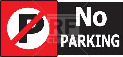 400x187 No Parking Sign Vector Image Vector Artwork Of Signs, Symbols
