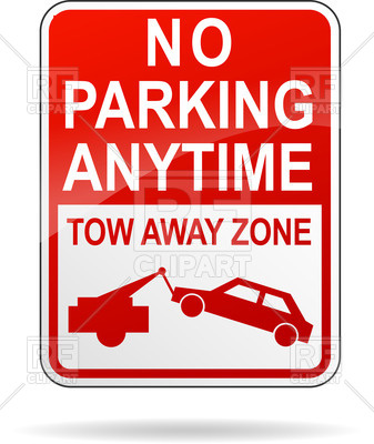 337x400 No Parking Anytime Road Sign Vector Image Vector Artwork Of