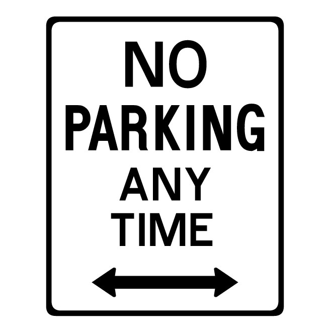 660x660 No Parking Any Time Vector Sign 3