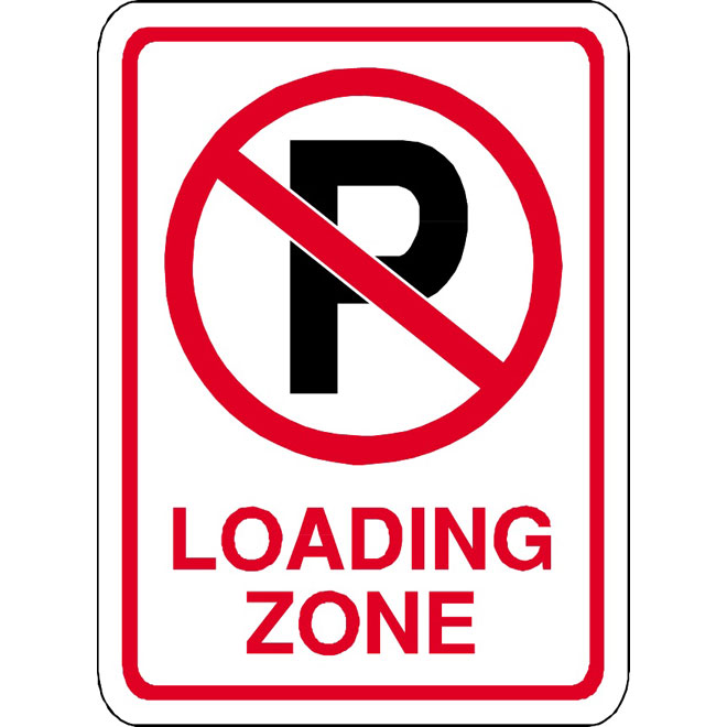 660x660 No Parking Loading Zone Vector Sign