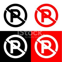 200x200 No Parking Icon Great For Any Vector Stock Vectors