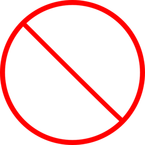 300x300 No Sign Clipart