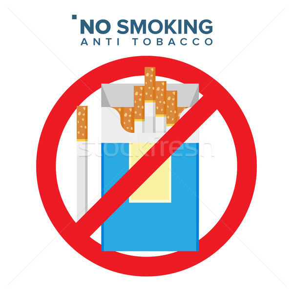 600x600 No Smoking Sign Vector. Prohibition Icon. Anti Offering And Bad