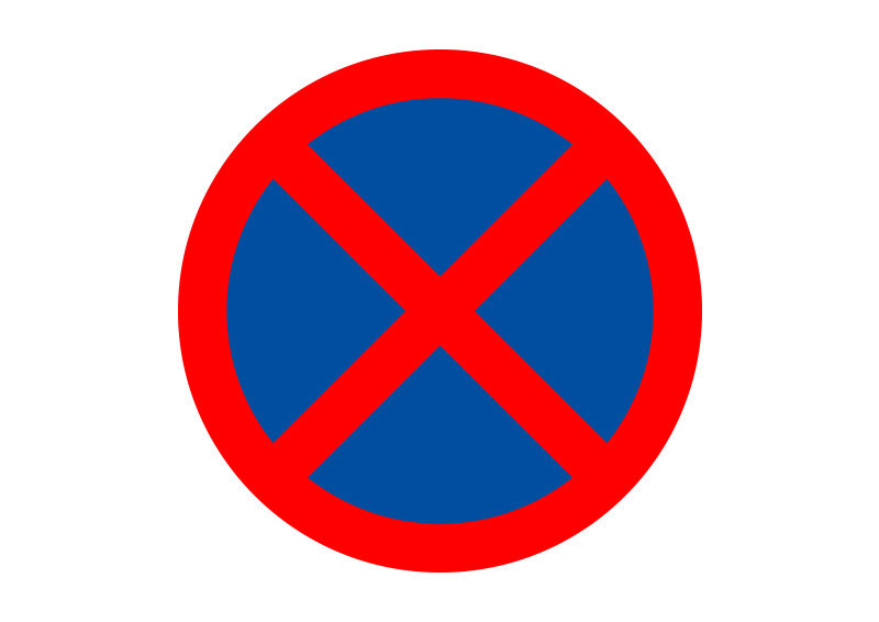 800x566 No Stopping Traffic Sign Vector