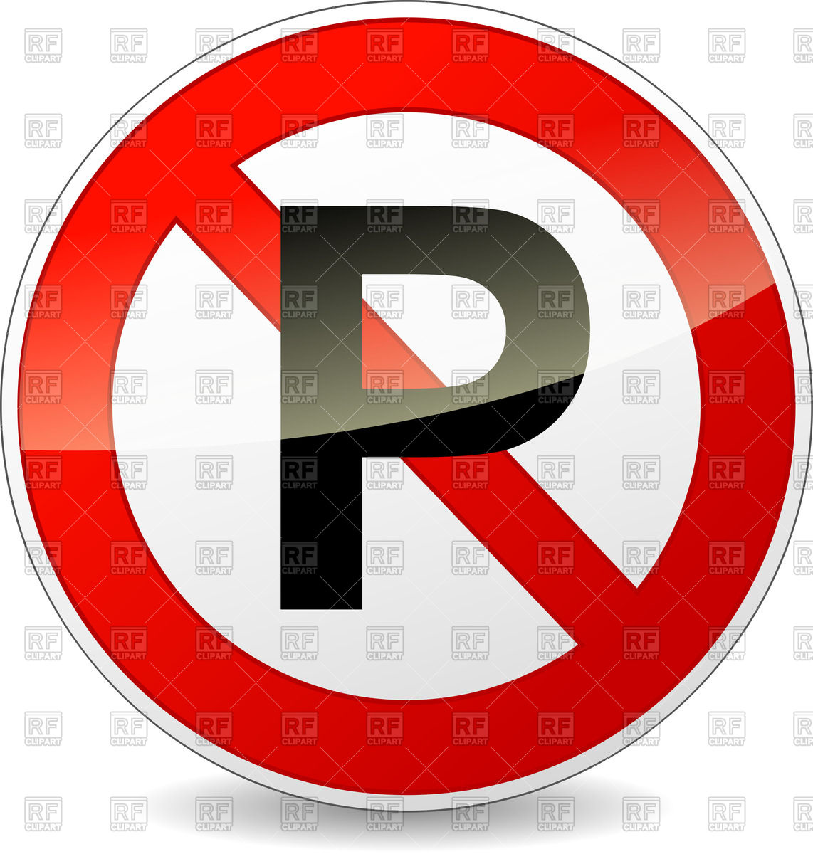 1142x1200 No Parking Round Prohibitory Sign Vector Image Vector Artwork Of