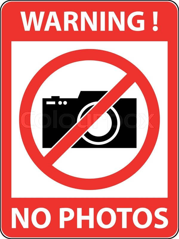 600x800 No Photography, Camera Prohibited Symbol. Sign Indicating The