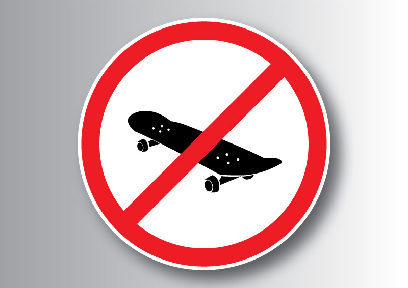 800x566 No Skateboard Sign
