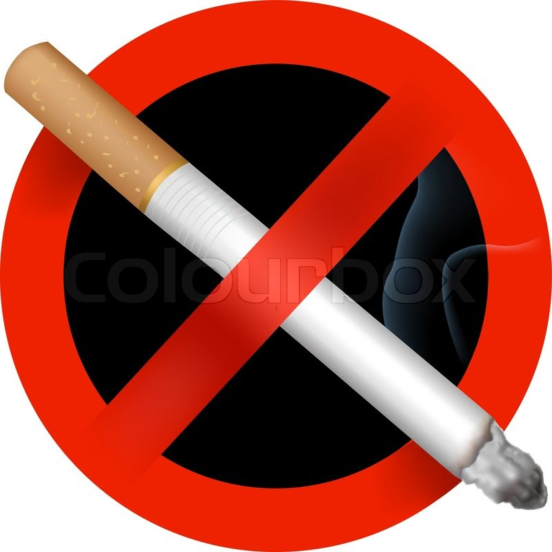 800x800 No Smoking Sign. Vector Illustration. Stock Vector Colourbox