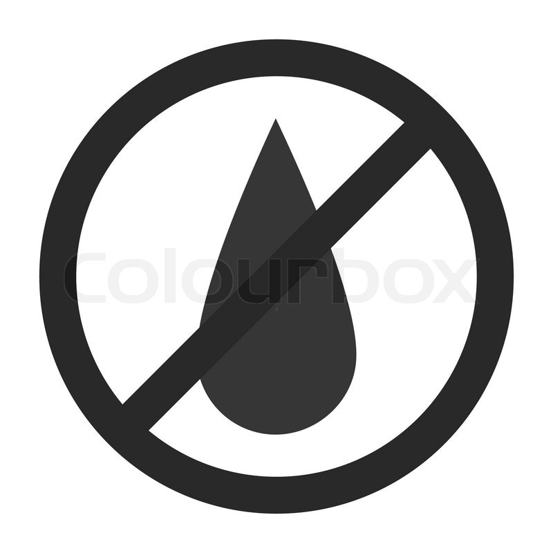 800x800 No Water Sign. Vector Illustration. Simple Pictogram. Stock