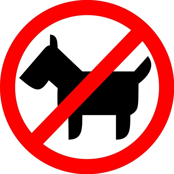 600x600 Sign No Animals Free Vector In Open Office Drawing Svg ( .svg
