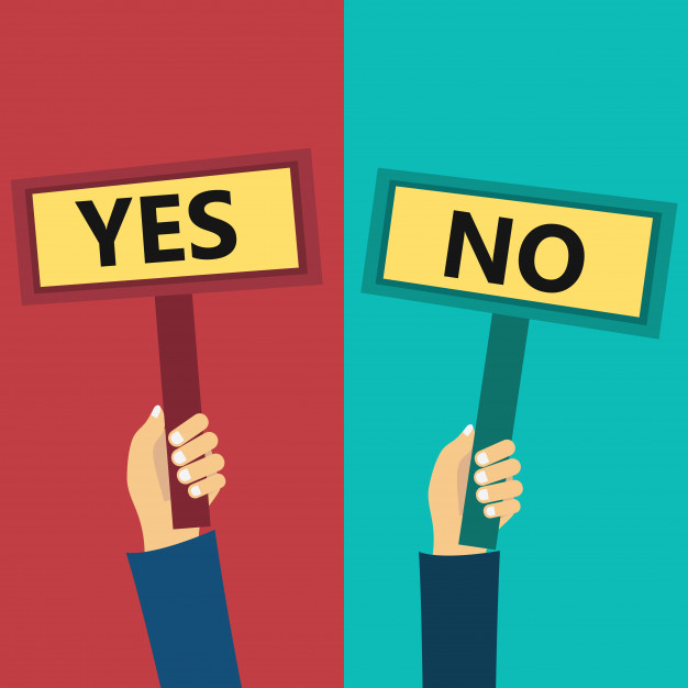 626x626 Yes And No Signs Vector Free Download