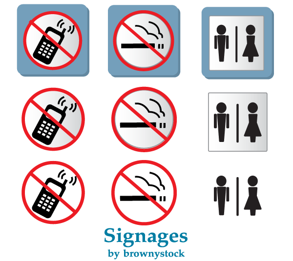 600x535 Free Prohibited Signs Vector No Smoking And No Mobile Phones Sign