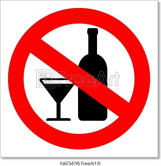561x581 Free Art Print Of Vector No Alcohol Sign Freeart Fa6734195