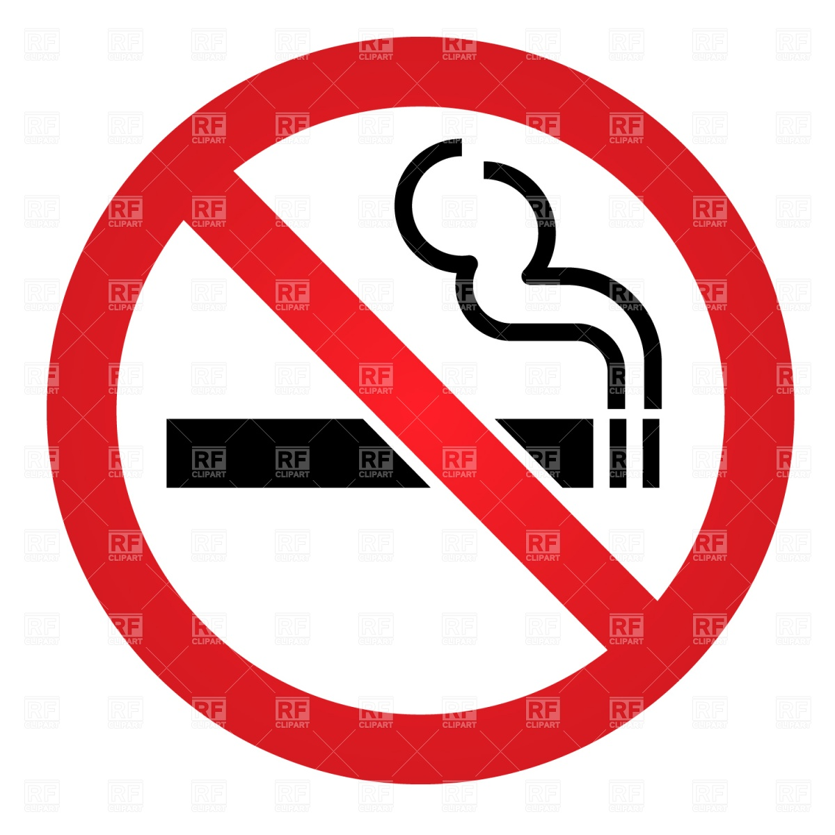 1200x1200 Generic No Smoking Sign Vector Image Vector Artwork Of Signs