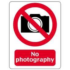 230x230 No Photography Vector Sign