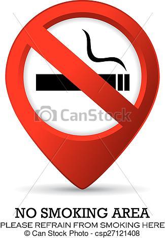 325x470 No Smoking Area Sign, Location Marker.