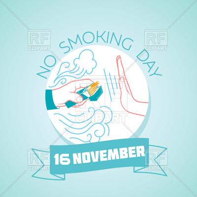 400x400 No Smoking Day Greeting Card