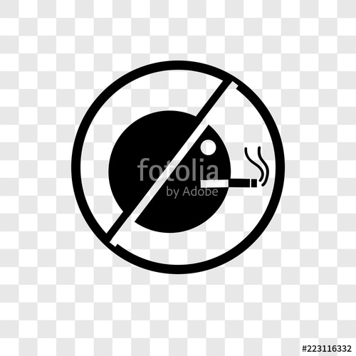 500x500 No Smoking Vector Icon Isolated On Transparent Background, No