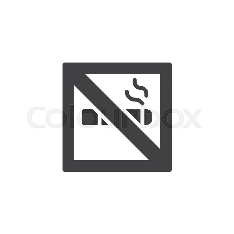 800x800 No Smoking Vector Icon. Filled Flat Sign For Mobile Concept And