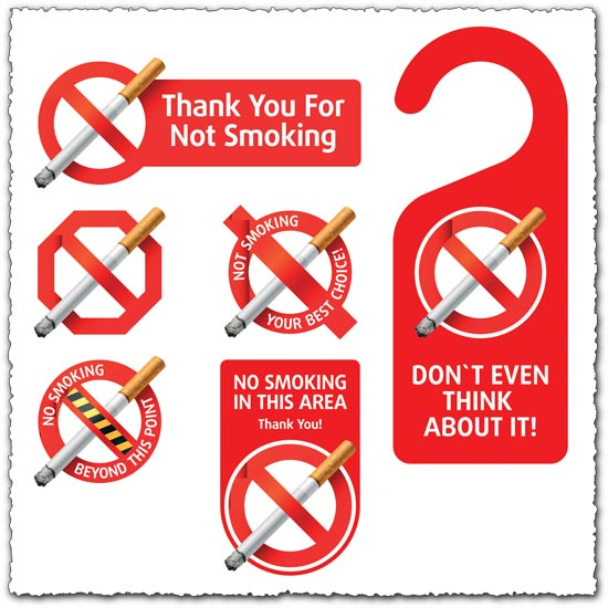 550x550 No Smoking Vector Labels