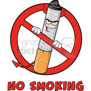 300x300 Royalty Free Royalty Free Rf Clipart Illustration Devil Cigarette