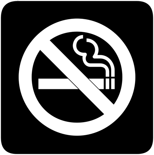498x500 Vector Image Of Inverted Aiga Sign For No Smoking Public Domain