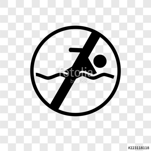 500x500 No Swimming Vector Icon Isolated On Transparent Background, No