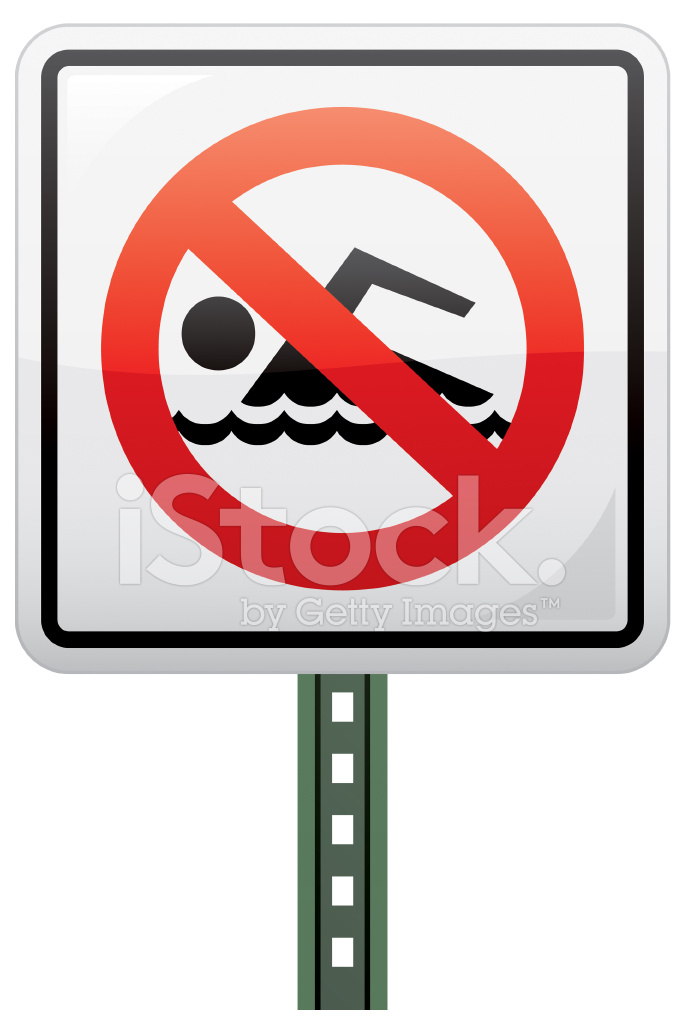 682x1024 No Swimming Sign Stock Vector