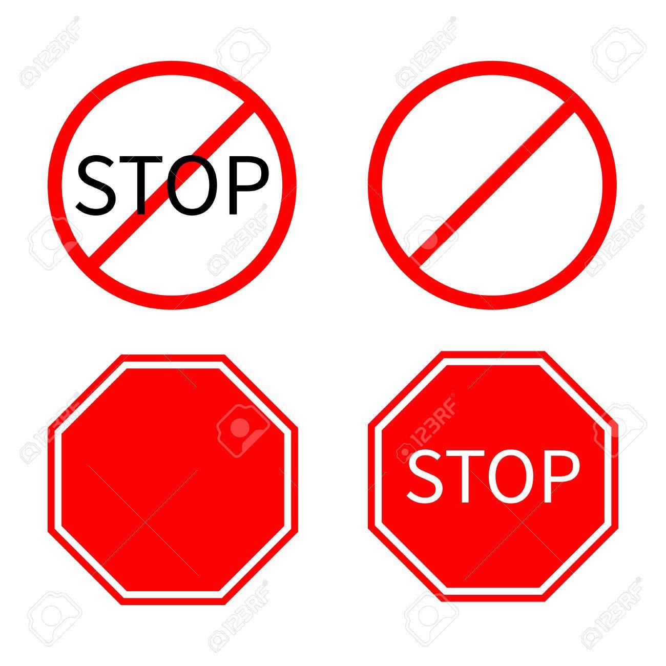 señal prohibido el paso vector