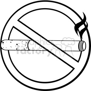 300x300 Royalty Free Royalty Free Rf Clipart Illustration No Smoking Sign