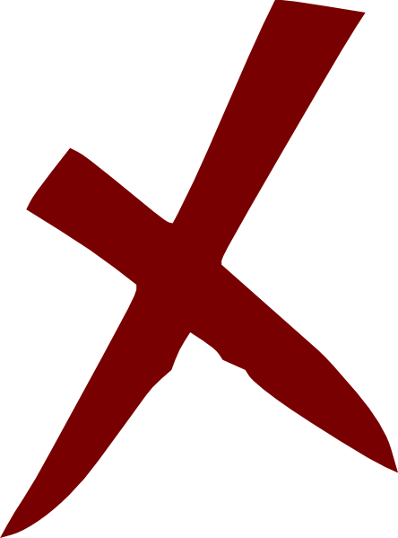 444x599 X Wrong No Cross Clip Art Free Vector 4vector