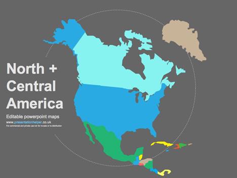 468x351 Free Editable Maps Of North America