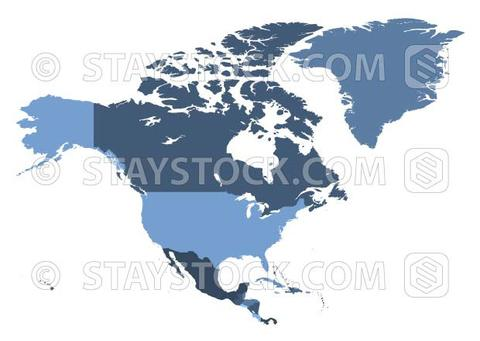 480x341 North American Map Vector Staystock