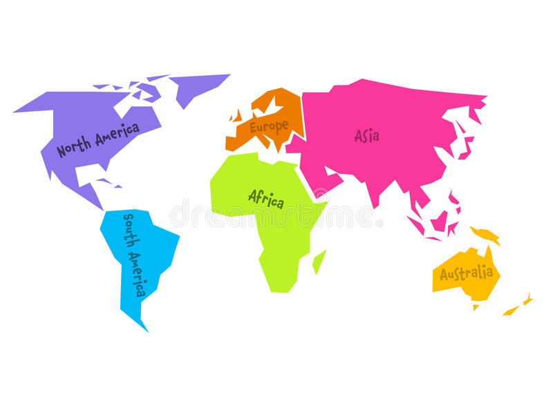 800x600 North South America Map Vector Beautiful Simplified World Map