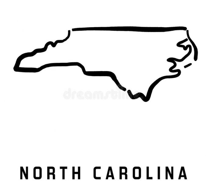 678x600 North Carolina Outline Vector North Carolina State Map Royalty